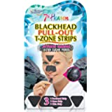 7th Heaven Women's Activated Charcoal T-Zone Strips for Ultra Clear Pores | Contains 1x Forehead Strip, 1x Nose Strip…