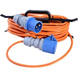 camping sites etc motor homes 5 meter A1 ELECTRICS A1ELECTRICS.COM 16A mains extension hook up lead 2.5mm flex for caravans choice of length
