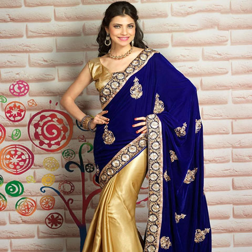 Half & Half Sarees Designs For Indian Girls Vol 1 Design Saree