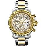 JBW Luxury Men's Titus 12 Diamonds & Baguette Cut Swarovski Crystals Dial Watch - J6347C