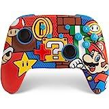 Verbesserter kabelloser PowerA Controller für Nintendo Switch – Mario Pop Nintendo Switch Lite, Gamepad, Spiele-Controller, B