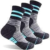 Women's Hiking Walking Trekking Socks, FEIDEER Outdoor Recreation Socks Wicking Cushion Comfortable Breathable Crew Socks for