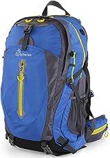 WolfWise 65L/50L Trekkingrucksack, Wanderrucksack Reiserucksack, Wasserdichter Rucksack mit Regenschutzhülle, für Camping/Wandern/Bergsteigen/Reisen, Nylon