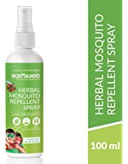 Bodyguard Herbal Mosquito Repellent Spray with Goodness of Essential Oils and Aloe Vera Extracts - 100ml