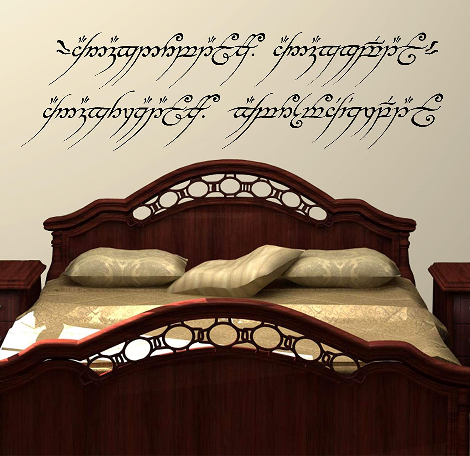 Lord of the rings wall art decal sticker one ring to rule them all lord of the rings wall art decal sticker one ring to rule them all elvish lotr medium 275cm h x 96cm w amazon kitchen home amipublicfo Choice Image