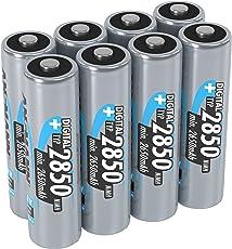 ANSMANN Akku AA Mignon Typ 2850mAh 1,2V - Wiederaufladbare Batterien AA mit hoher Kapazität & ohne Memory-Effekt - Akkus AA ideal für Kamera, Blitzgerät, Xbox One Controller Akku, uvm - 8 Stück