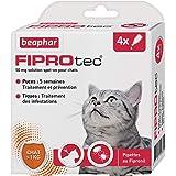 BEAPHAR – FIPROTEC 50 mg – Solution spot-on au Fipronil pour chats (> 1 kg) – Traite les infestations par les puces – Tue les