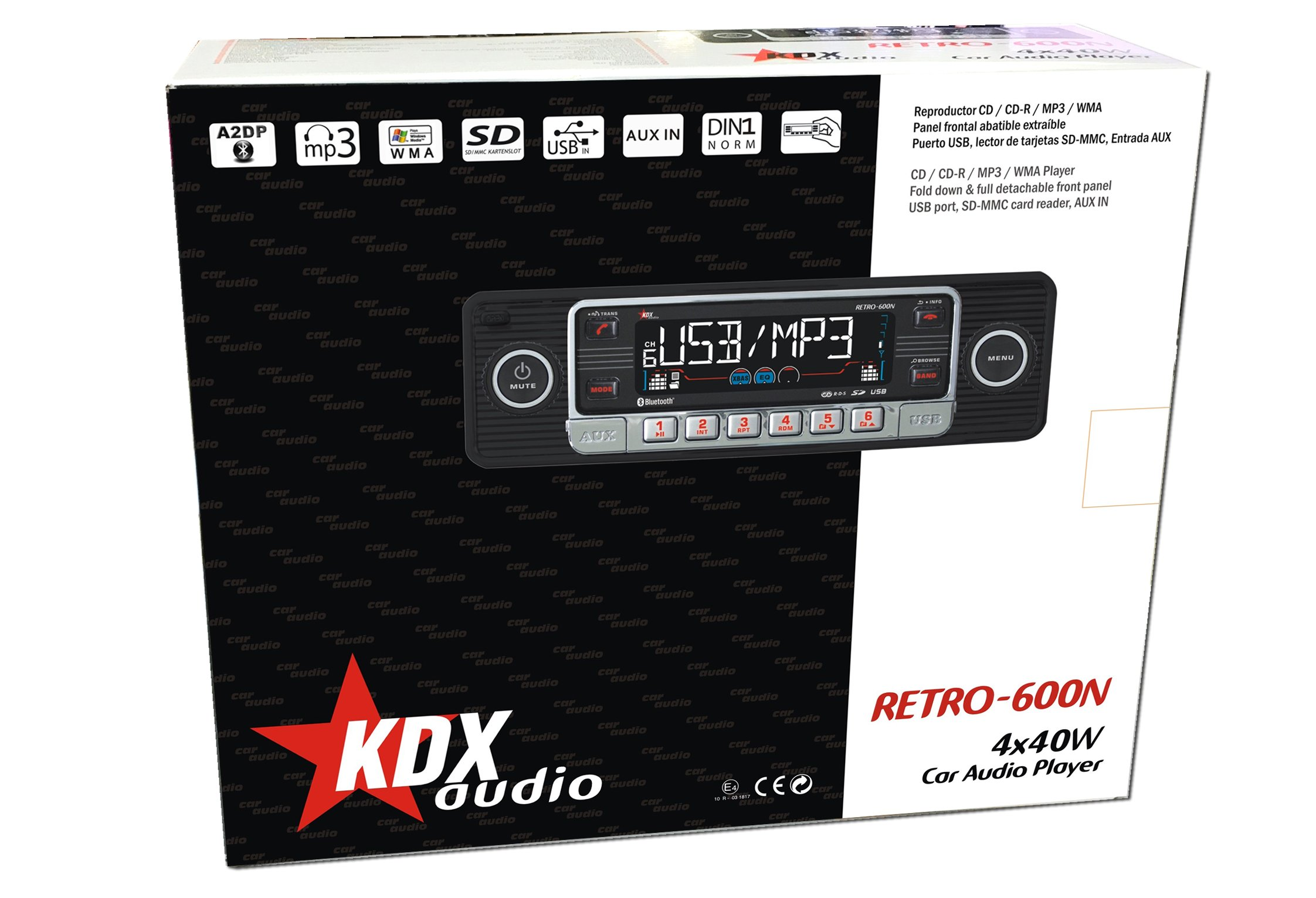 KDX-Audio-Radio-CD-MP3-WMA-Bluetooth