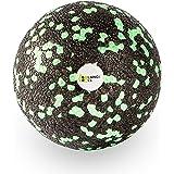 Balance Roll Faszienball (8cm) zur Trigger Point Massage - Kleiner Faszien Ball für Fitness-Training und Sport - Black Foam Kugel