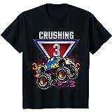 Enfant Garçon 3ème anniversaire Monster Truck Birthday CRUSH 3 ans T-Shirt