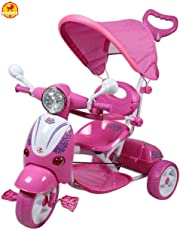 GoodLuck Baybee Kid's Tricycle with Canopy and Parent Push Control, 1-5 Years (Pink)