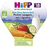 Hipp Biologique Mon Dîner Bonne Nuit Petites Lasagnes aux Légumes dès 18 mois - 6 assiettes de 260 g