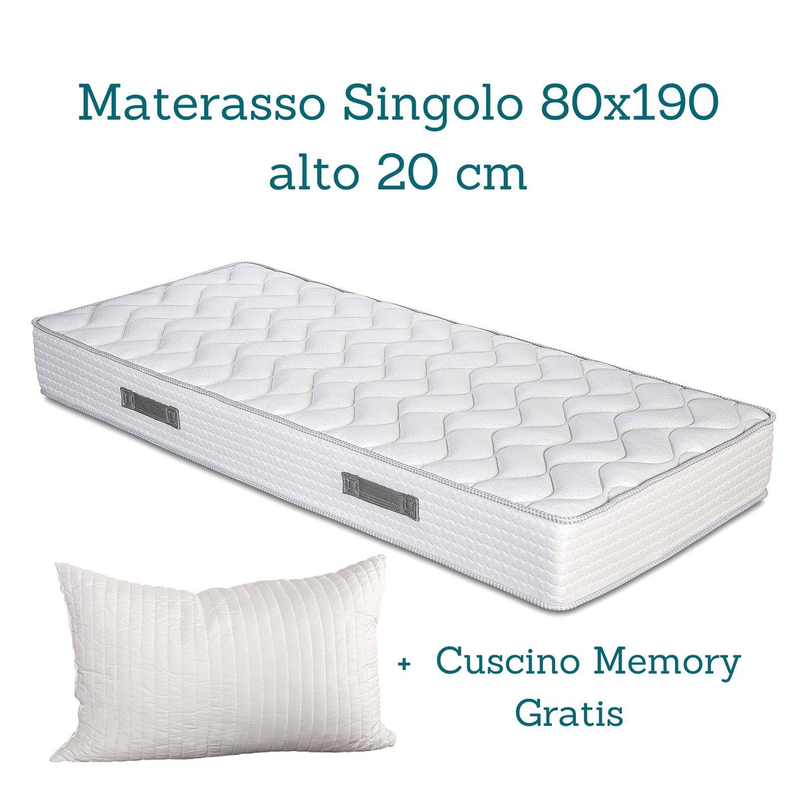 Evergreenweb - Kit Rete e Materasso Alto 20 cm + Cuscini Memory ...