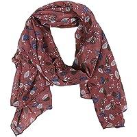 Zwillingsherz Seiden-Tuch im Blätter Design - Hochwertiger Schal für Damen Mädchen - Halstuch - Umschlagstuch – Pashmina…
