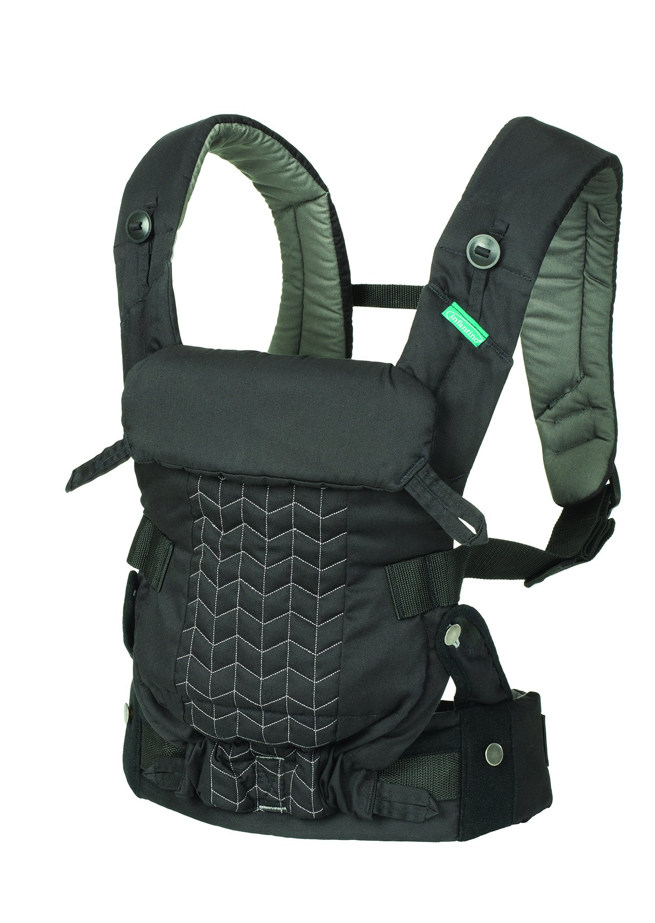 Infantino Upscale Carrier, Black, One Size Infantino Fully safety tested 4 way carrier Facing in newborn & m position 12