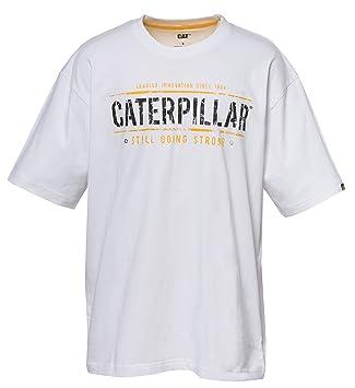 Caterpillar 1510163 Cat T-Shirt Going Strong, Weiß, Größe M