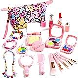 ARANEE Maquillage Enfant Jouet Fille, 20 Pcs Pr¨¦Tend Jouer Kit de Maquillage avec Sac Cosm¨¦Tique Cadeau de No?l Anniversair
