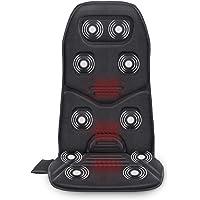 COMFIER Coussin de Siège de Massage avec Chaleur - 10 moteurs de Vibration, Masseur de Dos avec fonction de chauffage…
