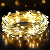 Fairy Lights, OMERIL 12m/39ft 120 LEDs String Lights, IP65 Waterproof Warm White Firefly Lights for Xmas, Party, Bedroom…