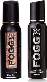 Fogg Fantastic Range Absolute Fragrance Body Spray, 120ml and Fogg Marco Body Spray For Men, 150ml