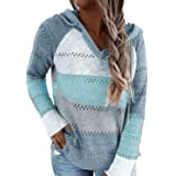 BLENCOT Sudadera Mujer Jersey con Capucha Mujer Sudaderas con Capucha Mujer Sweatshirt Mujer Suéter Mujer Cardigan de Manga L