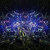 Lumières de Starburst, lumières suspendues de feux d'artifice solaires de 105 LED, lumières décoratives imperméables de fil d