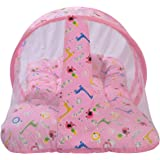 Toddylon® New Born Baby/Toddler Mattress with Mosquito Net - Pink (0-6 Months)