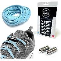 Senkly Elastische Schnürsenkel mit Metallkapsel für Sneaker