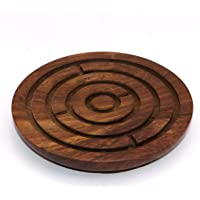 Vian Game Labyrinth, Ball-in-A-Maze Puzzles, Handcrafted in India