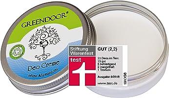 Greendoor Deo Creme Ohne Aluminium vegan 50ml, Creme Deodorant OHNE Aluminium-Salze Alkohol Parabene, natürlich ohne...