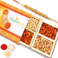 Ghasitaram Gifts Dry Fruit - Ghasitaram's Orange Dry Fruit Box 200 gms