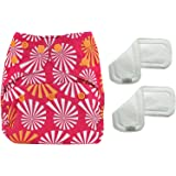 Bumberry Reusable Diaper Cover and 2 Wetfree Inserts (3 - 36 Months)