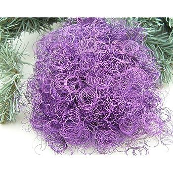 Weihnachtsbaum Engelshaar.Amazon De Topdekoshop 1 Beutel Lametta Engelshaar Gelockt Violett