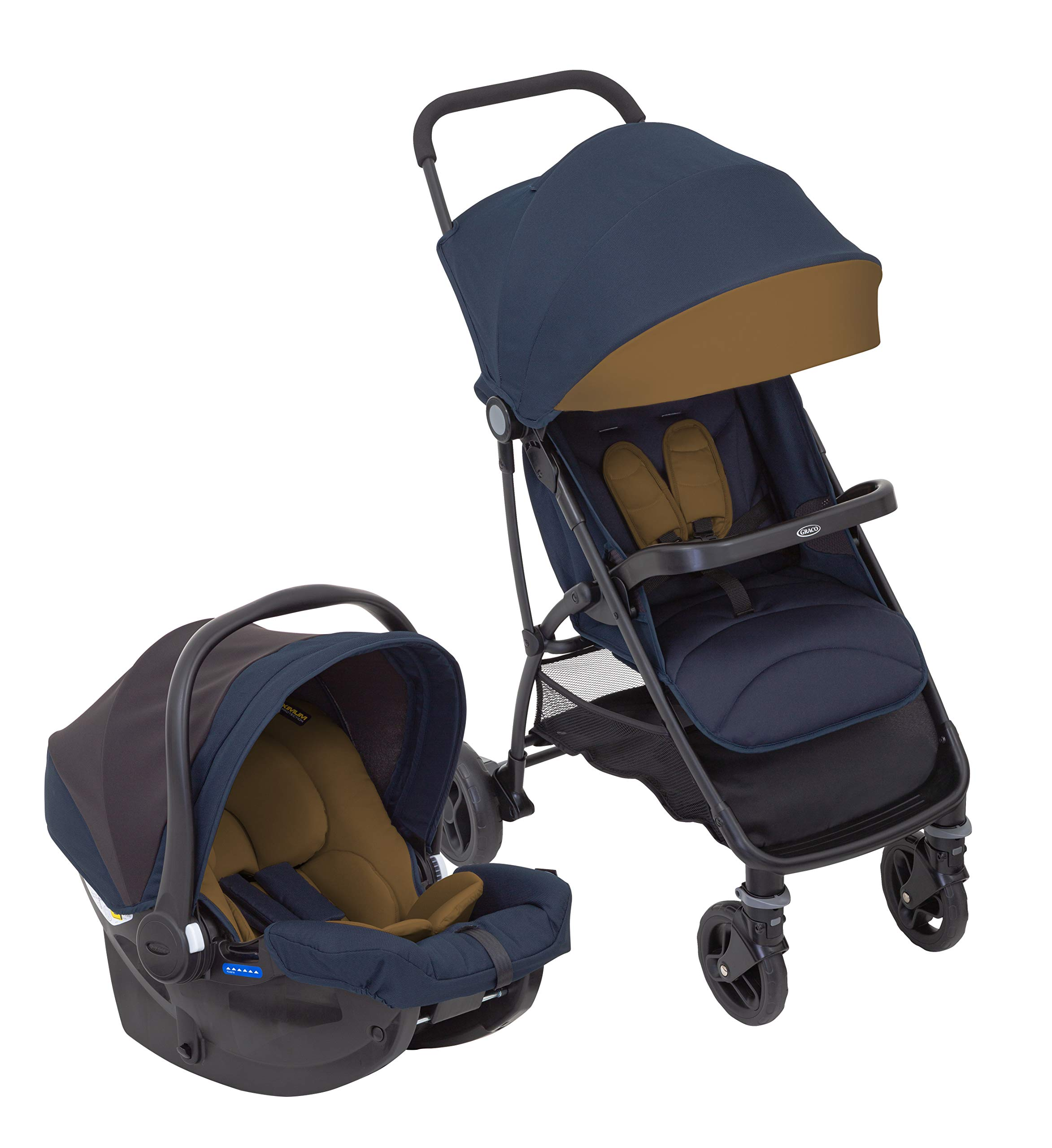 Graco Breaze Lite i-Size Travel System, Eclipse Graco From birth to 3 years approx. (0-15kg) Travel system package with snug essentials isize infant car seat included Lightweight stroller at only 6.5kg 1