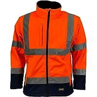 Kapton Mens Hi Vis Visibilty 2in1 Softshell Jacket Bodywarmer Waterproof and Breathable