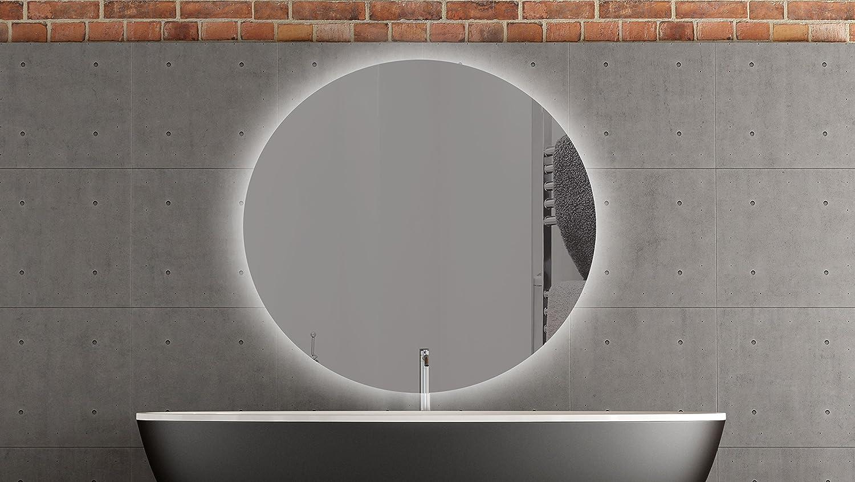 spiegel oval mit beleuchtung wg89 hitoiro. Black Bedroom Furniture Sets. Home Design Ideas