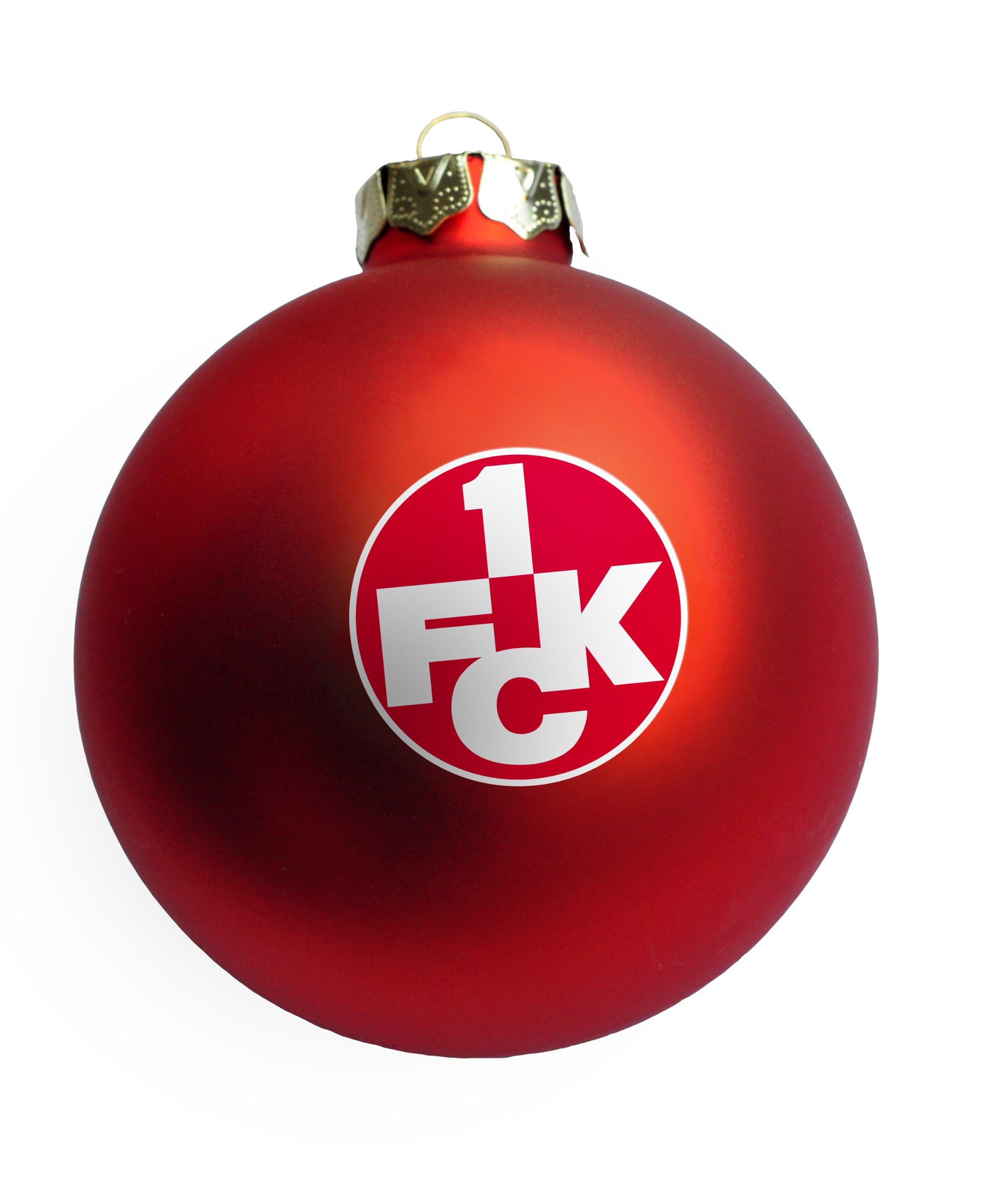 Brauns 1. FC Kaiserslautern Weihnachtskugeln Logo 4er-Set, rot, 18084