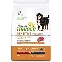 Natural Trainer Sensitive No Glutine - Cibo per Cani Medium-Maxi Adulti con Agnello e Cereali Integrali - 3kg