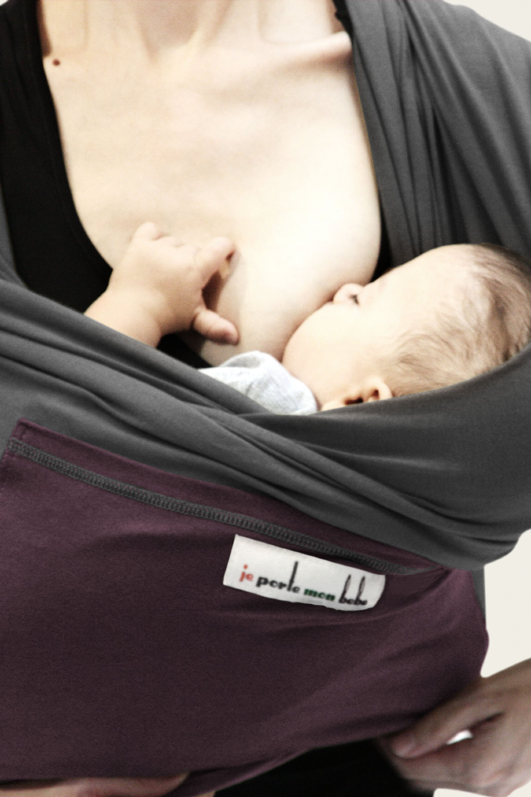 Je Porte Mon Bébé L'Originale Baby Sling Je Porte Mon Bébé High Quality Elastic Baby Carrier Dense, elastic and breathable material Great support, fits your baby's body like a second skin. 35