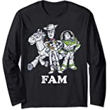 Disney Pixar Toy Story Buzz and Woody Family Manche Longue