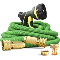 NGreen Expandable and Flexible Garden Hose - Strength Durable Fabric and 13-Layer Latex Inner Tube, Leakproof Solid…