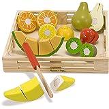 Melissa & Doug Träskärande frukt | Låtsaslek | Lekmat | 3+ | Present till pojke eller flicka