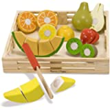 Melissa & Doug Wooden Cutting Fruit | Pretend Play | Play Food | 3+ | Gift for Boy or Girl