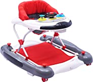 R for Rabbit Ringa Ringa Baby Walker - The Anti Fall Baby Walker Cum Rocker with Adjustable Height and Musical Toy Bar (Red W