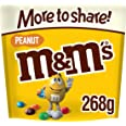 M&M's Peanut Chocolate More to Share Pouch, Chocolate Gifts & Movie Night Snacks, 268 g
