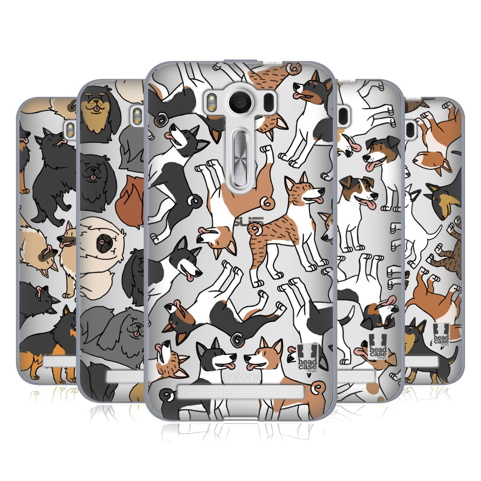 Head Case Designs Dog Breed Patterns 5 Soft Gel Case Compatible for Amazon Asus OnePlus