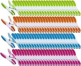 PEARL Wäscheklammer Sets: Wäscheklammern mit Soft-Grip, 200 Stück, in 4 Farben (Wäschklammer)