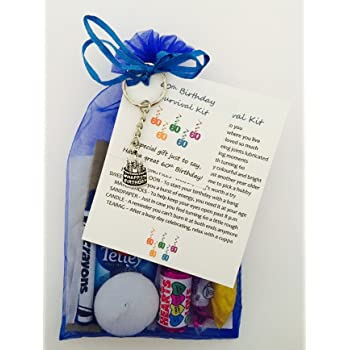 de838dce486a 60th Birthday Survival Gift Kit Fun Happy Birthday Gift Present For Him Her  Choose