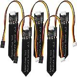 AZDelivery 5 x Sensor de Humedad del Suelo V1.2 Modulo Higrometro V1.2 Capacitivo Compatible con Arduino con E-Book Incluido!