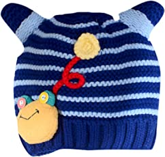 Krystle New Winter Infant Baby Boys And Girls Kids Knit Cute Cartoon Horns Hats Wool And Cashmere Thick Cap